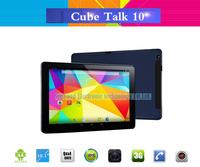 "Original 10.1"" Cube Talk 10 U31gt 3G Tablet PC MTK8382 Quad Core IPS 1280x800 Screen Dual Cameras Android 4.4 phone call  WCDMA"