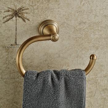 Bathroom Towel Ring Rack Wall Mounted Towel Hanger Antique Brass