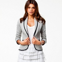 Autumn Hot New Blazer Women Brief Mixed Color Long Sleeve Short Jackets Slim Body Casual High Quality Cotton Coats 8836