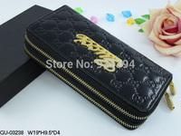 Hot 2014 Crystal Fashion Female Brand Designer Wallet Women Patent Leather Zippers Purses Bolsas Femininas Ladies Evening Bags