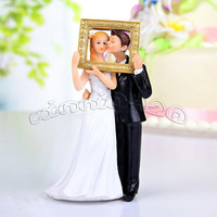 Free shipping Picture Perfect Couple Romantic Wedding Cake Topper New