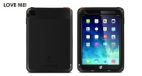 FOR IPAD Air Extreme Waterproof Shockproof Aluminum Metal Case Cover For IPAD Air Tempered Gorilla Glass