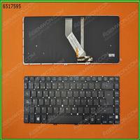 Freeshipping ! Spanish SP Letter keyboard for ACER V5-471 V5-431 M5-481 BLACK(with backlit board,For Win8)
