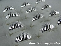 New!!10pcs Wholesale lots 925 Sterling Silver  fashion rings(6-8)