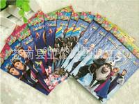 20pcs/lot Wholesale 10.5*14.5cm Frozen Sticker Colouring Book Coloring Set Kids Drawing Toys Frozen Party Supplies