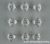 New!!Wholesale lots 10pcs 925 Sterling Silver hollow out big rings(6-8)