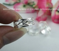 New!!wholesale lots 10pcs Fashion 925 Sterling Silver Cross-wire Toe Rings