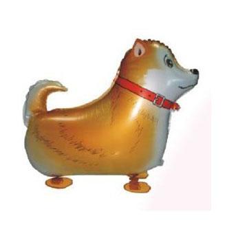 10pcs/Lot, Free Shipping, Shepherd Dog Pet Walking Animals Balloons Hulium Mylar Balloons, Baby's toy, Party Decoration. .(China (Mainland))