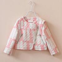 2014 Autumn New Brand Girls Jaquetas Roupa Infantis Coat Children Zipper Outerwear Fashion Designer Warm Kids Jackets & Coats