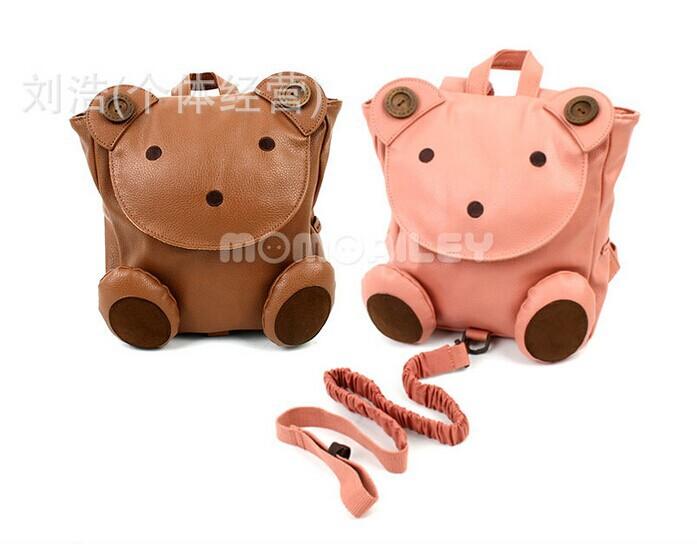 2014 новое поступление корея честный детей грудного ребенка медведь, Супер прорастания рюкзак плечи анти-потерянных детей школьные сумки