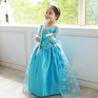 2014 Fantasia Frozen Costume Children Clothing Teenage Girls Dress Summer Girl's Fashion Princess Elsa Dresses Blue Vestidos