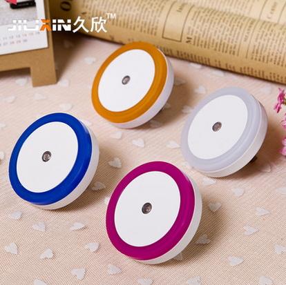 2014 NEW IN Hot!!! Free Shipping Baby safety and sensor creative energy saving lamp novelty gifts circular LED Nightlight(China (Mainland))