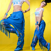 Fashion tassel pants loose jazz dance hypertensiveperson pants thin hiphop hip-hop trousers ds costume