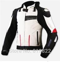 Free Shipping Komine JK015 top high quality titanium alloy jacket automobile race ride clothing motorcycle clothing BLACK Ivory