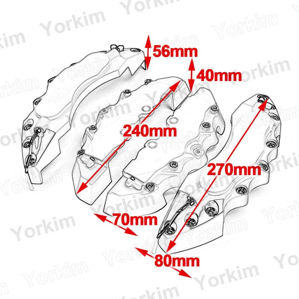 Суппорты и Аксессуары YorKim 4pcs Brembo &