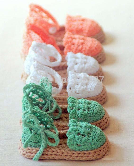 New Arrival Baby crochet shoes Baby girls Espadrille Sandals Crochet