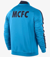 Jersey Manchester City 2015 Man City 14/15 Football Soccer Training Jacket Futebol Training Coat Wholesale Free Shipping