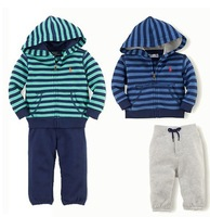 Retail Children's clothing sets baby boys autumn  tracksuits sets Sport suits casual hoodies jackets + pants pants Free shipping