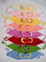 children's hairbands crochet Bow flower handwoven blasting baby girl hair band infants Knitting hair accessories