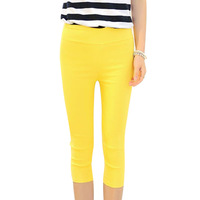 Women Pants New 2014 Fashion Candy Color  Pencil The Waist Trousers Women Casual Women Clothing 1956