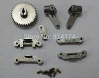 8pcs HengLong rc car 3851-2 1:10 RC Mad Truck upgrade parts metal main gear+metal servos arm+metal steering knuckle