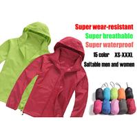 2014 New Arrive Brand XS-XXXL Women Men Ultra-light Outdoor Sport Waterproof Jacket Quick-dry Clothes Skinsuit Plus Size Outwear
