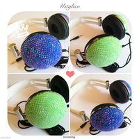 2014 Hot Free shipping(10pcs/lot) Wholesale Fashion bling headphone for computer