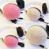 2014 Hot Free shipping(10pcs/lot) Wholesale Fashion diamante headphone for computer