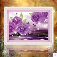 Free shipping 5D diamond Painting Diy kit Round diamond paste diamond draw Home Decoration Rose Valentine Send supporting tools