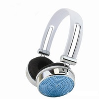 2014 Hot Free shipping(10pcs/lot) Wholesale Fashion jeweled earphone for cellphone