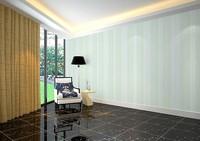 2014 new home decor non-woven wallpaper houses roomdecoration stripes white blue green pink vertical modern luxury renovator