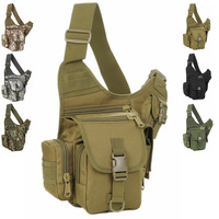D5 SLR Camera Military Nylon Case Men Outdoor Waterproof Saddle Bag Tactical Shoulder Chest Pouches Sports Climbing Bags Camo