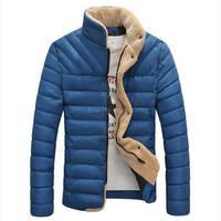 2014 Winter Men Parkas Korean Casual Slim Lambs Wool Coat Down-jacket
