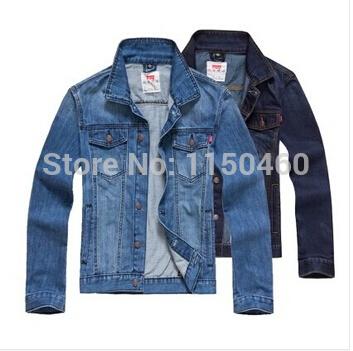Free shipping 2014 men's clothing men's jean jacket men denim jackets for men(China (Mainland))