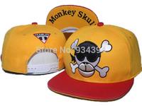 Team Life Monkey Skull Hype Bone Cartoon 2014 New Hip hop Brand Designer Fashion Sun Hats street Snapback Caps Free Shipping