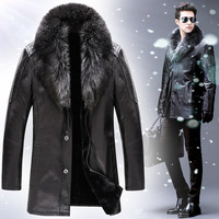 For Crocodile fur one piece male sheepskin fur leather jacket outerwear genuine leather clothing