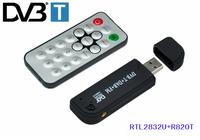 New arrival Software Radio USB DVB-T RTL2832U + R820T Support SDR Digital TV Tuner Receiver