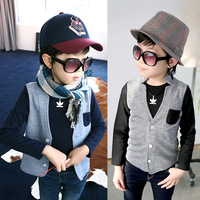 New 2014 autumn fight sleeve boys clothing outerwear baby child long-sleeve cardigan wt-2662 jackets and coats for children