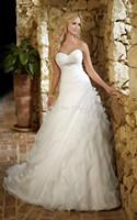 2014 A-line Bridal Gown Hand Crafted Asymmetrical Figure-flatter Sheer Cap Sleeve Jacket Ruffles Court Train Wedding Dressbri