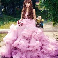 Short Wedding Dress Sale Clouds Dance 2014 New Elegant Ball Gown Bridal Court Train Tiered Skirt Sweetheart Wedding Dress__
