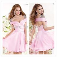 2014 Sale New A-line Mini Skirt Short Cocktail Party Dresses Bandage Natural Waist Scalloped Diamante Beading Cap Sleevesbrida