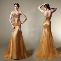 2014 New Real A-line Elegant Long Evening Dresses Party Floor Length Gown Formal Dress Sweetheart Custom Vestidos De Fiestabrid