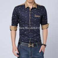 Free Shipping 2014 TOP Quality Men shirt Casual Men Shirt camisas hombre mens shirts unique buttons mens dress shirts 4 colors