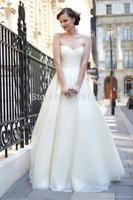 Vestido Longo Free Shipping Cheap Price Elegant Simple Color New 2014 Sexy Sweetheart Wedding Party Dresses Long Organza Dressb