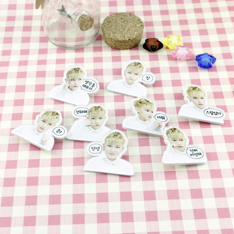 2014KPOP EXO phiz overdose acrylic badge facial expression pin brooch wholesale random(China (Mainland))