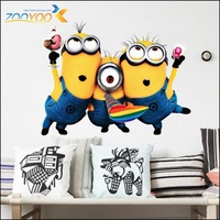 Despicable Me 2 Minion Movie Decal Removable Wall Sticker Hot Selling Home Decor Art Kids /Nursery Loving Gift 1406-SN