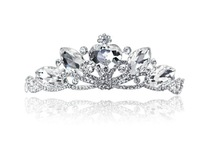 The new Korean large crown tiara wedding dress with short hair bands jewelry