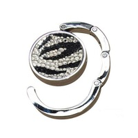 2014 Hot Free shipping(20pcs/lot) Wholesale Fashion 100% handmade zebra crystal bag hanger