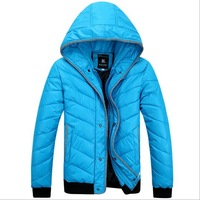 2014 Men's Winter Jacket Fashion Cotton-padded jacket Vintage Outerwear Coat Design Wadded Jacket Plus Size M-XXL Coat 6519