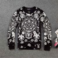CT-27 Fashion harajuku killstar ktz geometry Print Loose Lovers sweatshirt thickening skull star punk hip hop sweatshirts